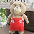 Tamanho grande Teddy Bear Ted Filme 2 Urso Brinquedos de Pelúcia Em avental 48 CM Macia Bichos de Pelúcia Plush Dolls Para presentes de Natal Presente de Aniversário