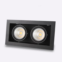 Double COB Led down lamp 10W/20W/30W LED ceiling grille double AC110-240V White Silver Black shell