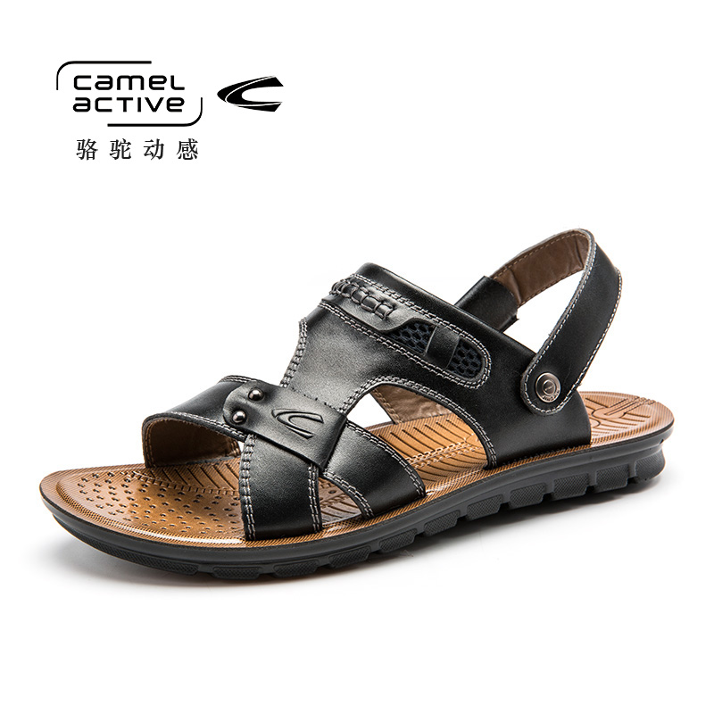 Camel Active Summer Beach Sandals Men Shoes High Quality Cow Leather Sandal Fashion Mens Sandals Outside Shoes 157434118