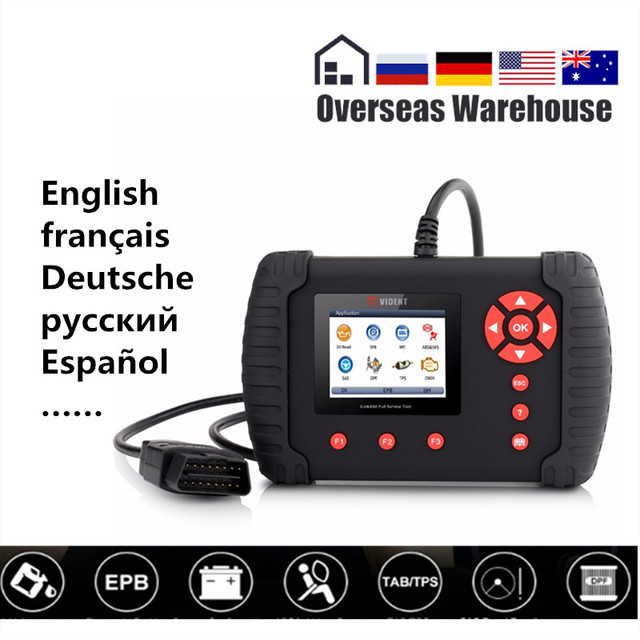 Vident iLink450 Automotive Scanner OBD 2 ii Diagnostic Tool Full Service All System Airbag Oil Reset EPB ABS DPF TPS SAS NT644