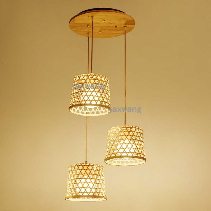 China bamboo Compiling Led Pendant Lamp Lights Hanging Lamp Hanglamp Light Modern Hanging Ceiling Lamps Chandelier Lighting
