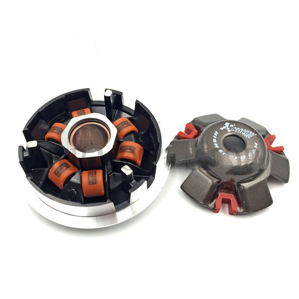 Free shipping koso High Performance Variator Set with Copper Rollers For Most Chinese 125 150cc GY6 Scooter Spare Part