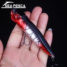 SEAPESCA 포퍼 낚시 유혹 90mm 13g 고품질 플로팅 유혹 하드 미끼 플라스틱 낚시 태클 크랭크 베이트 5 색 ZB20
