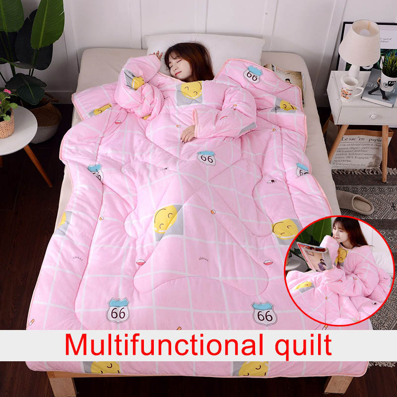 Multifunction Lazy Quilt With Sleeves Winter Warm Thickened Washed Quilt Blanket Store