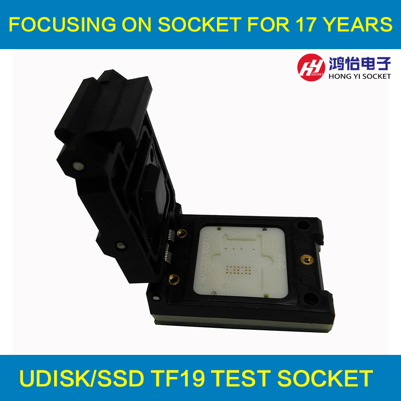 TF19 to DIP48 Pogo Pin Test Socket Flash Chip Testing Socket TF19 Clamshell Adapter specific flash lqfp100 78k0 lg2 100gf test adapter