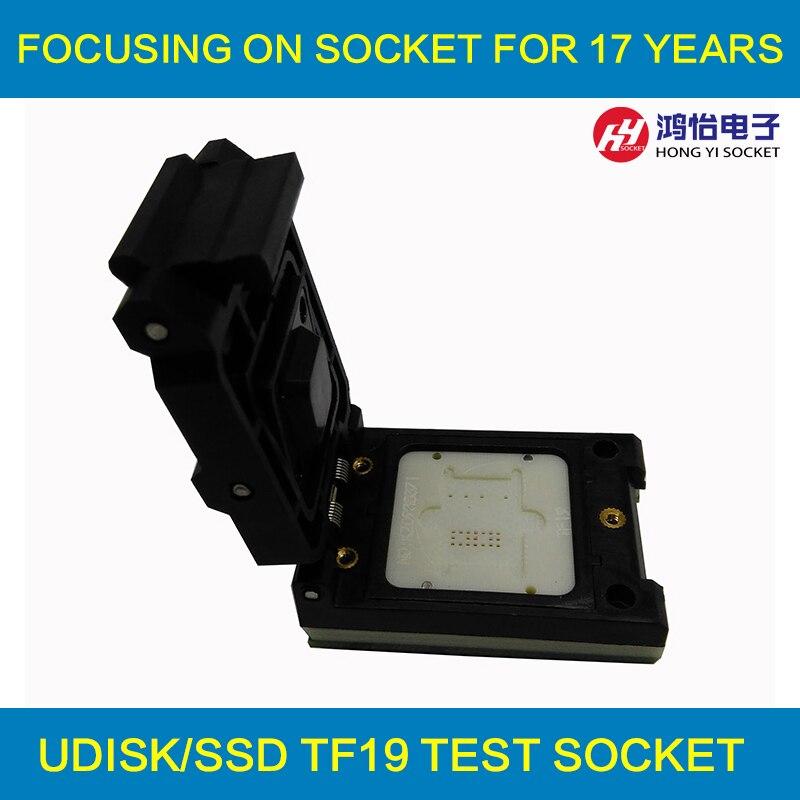 TF19 to DIP48 Pogo Pin Test Socket Flash Chip Testing Socket TF19 Clamshell Adapter stc15f104e 35i dip 15f104 dip8