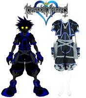 Kingdom Hearts Sora Anti Dark Cosplay Costume Tailor Made