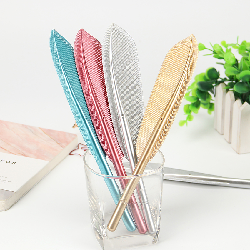 0.38mm Gel Pen Top Selling Multi Colors Feather Gel Pens Guest Book Signing Needle Gel Pen Stationery