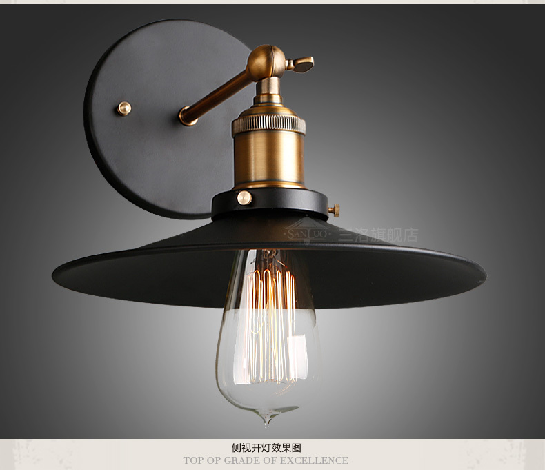 Free shipping High quality wrought iron balcony stair lamp Loft Northern Europe american vintage retro country wall lamp W62|stair lamp|wall lamp|country wall lamp - title=