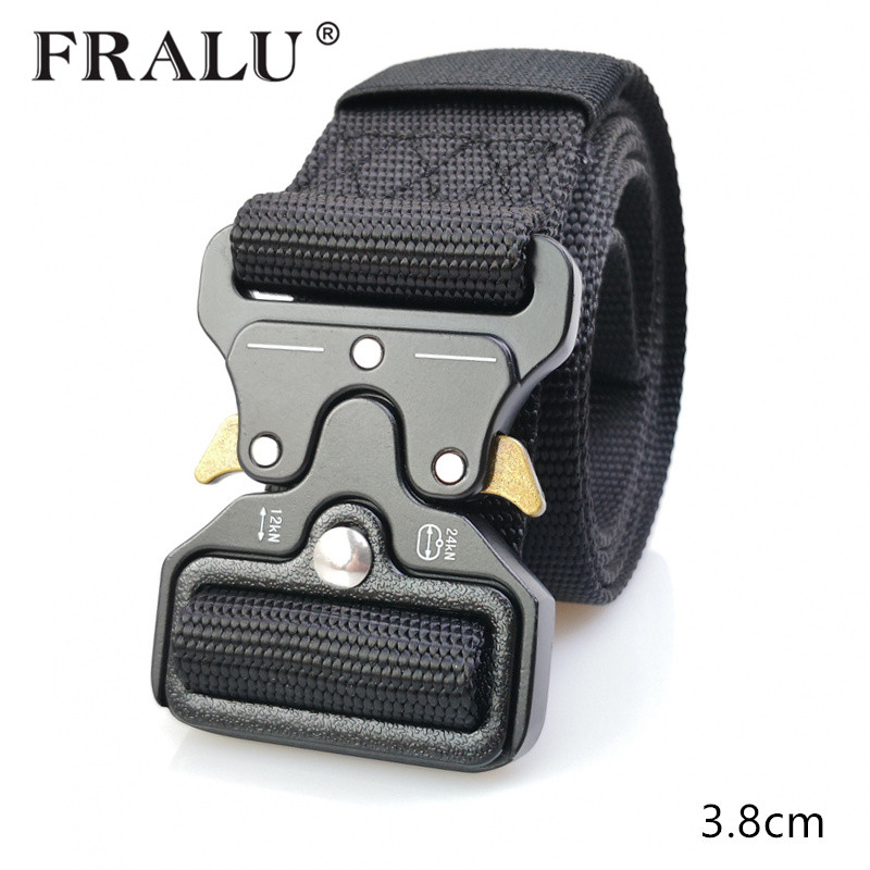 Discreet Fralu Hot Mens Canvas Belt Nylon Belt Outdoor Multifunctional Training Belt High Quality Strap Ceintures Jeans Belt Unisex Men's Belts
