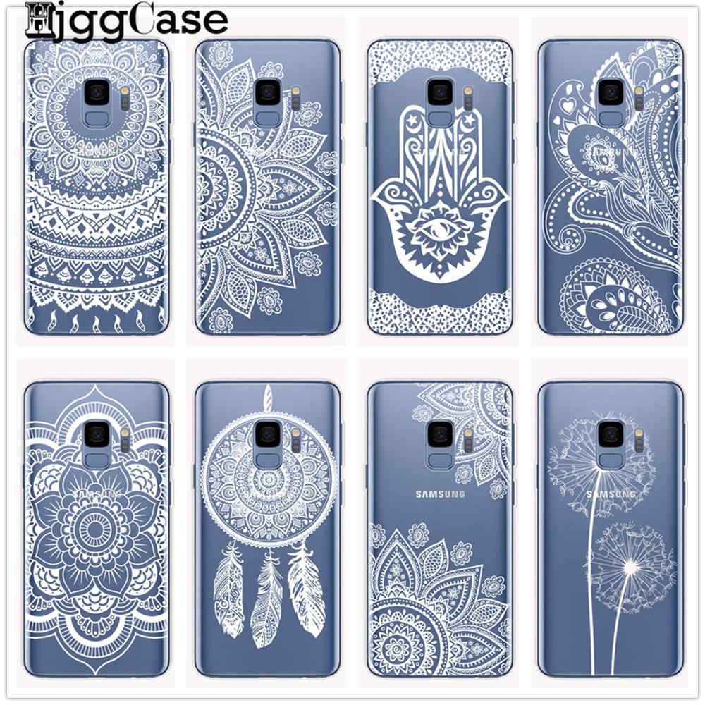 Mandala National Wind Totem Phone Case For Samsung Galaxy S6 S7 Edge S8 S9 S10 Plus A6 A8 Plus 2018 Note 8 9 Cover Soft TPU Case