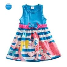 JUXINSU Toddler Dress Girl Sleeveless Cotton Little Pony Baby Clothes Summer Cartoon Print SH5698