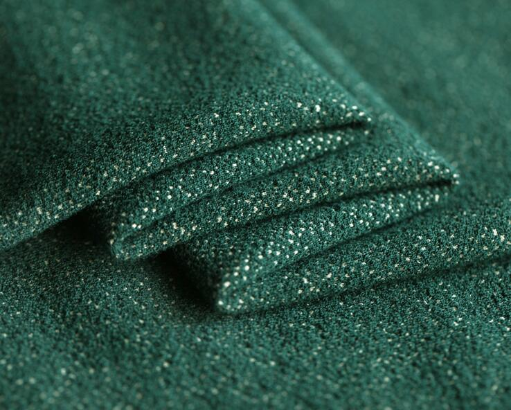 Green Yarn dyed stretch knit wool cashmere fabric suit coat dress christmas tulle sequin scrapbooking Polyester fabric A114