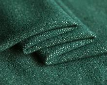 Green Yarn-dyed stretch-knit wool cashmere fabric suit coat dress christmas tulle sequin scrapbooking Polyester A114