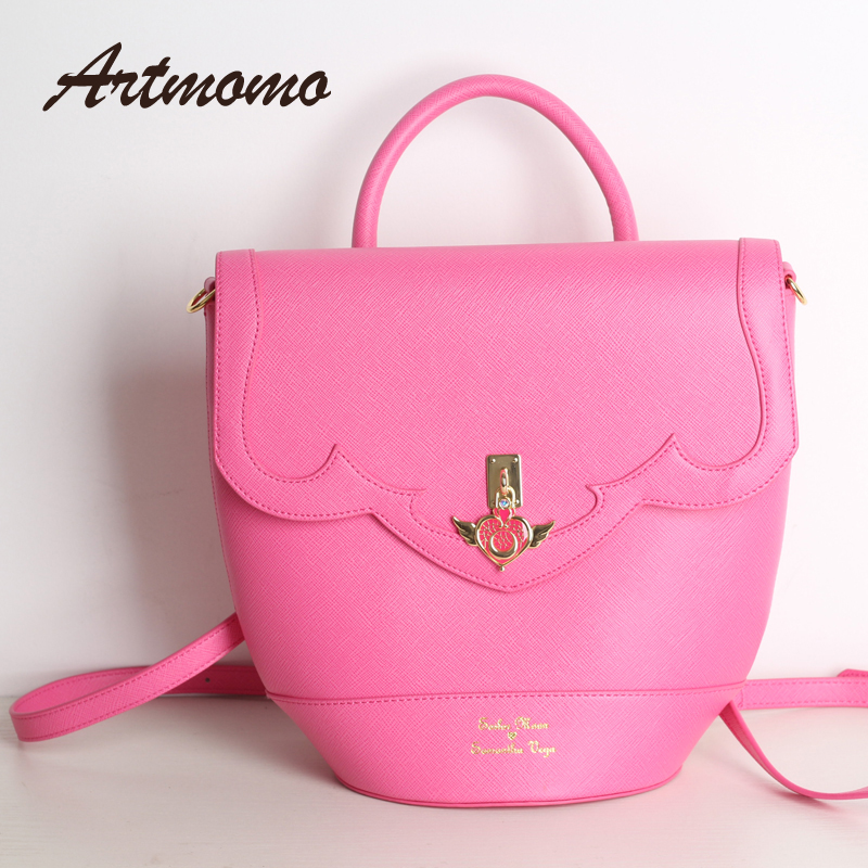2017 new sailor moon luna / artemis hand bag samantha vega handbag box shoulder bag messenger bag student 3 kinds of use bag 2017 brand design black white sailor moon luna artemis hand bag samantha vega handbag cat ear shoulder bag messenger bag