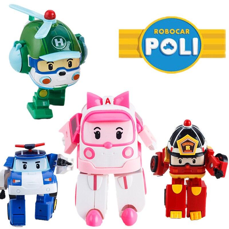 4 Adet/takım Kore Patlama Modelleri Perley Helly Roy Amber Robot Araba Dönüşüm Oyuncaklar Çocuklar Için En Iyi Oyuncaklar