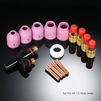 16pcs TIG Welding Torch Stubby Gas Lens Kit Cup Collet Body Nozzle For WP 17 18