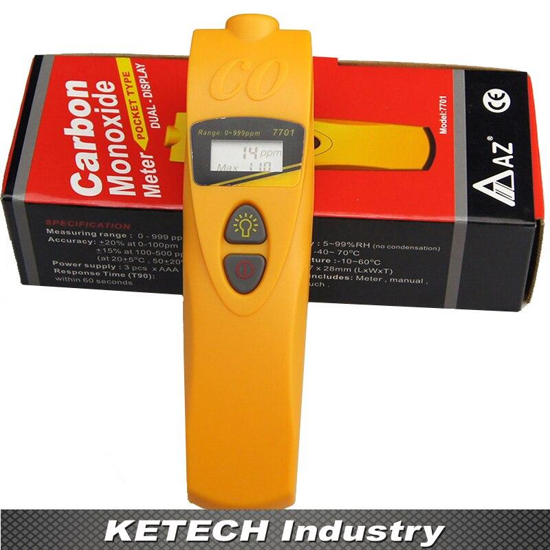 Carbon Monoxide Detector, Gas Tester,CO Detector AZ-7701 no sf6 o2 o3 co2 voc no2 co so2 nh4 h2o2 carbon monoxide gas detector 4 20ma three wire toxic gas detection module output module