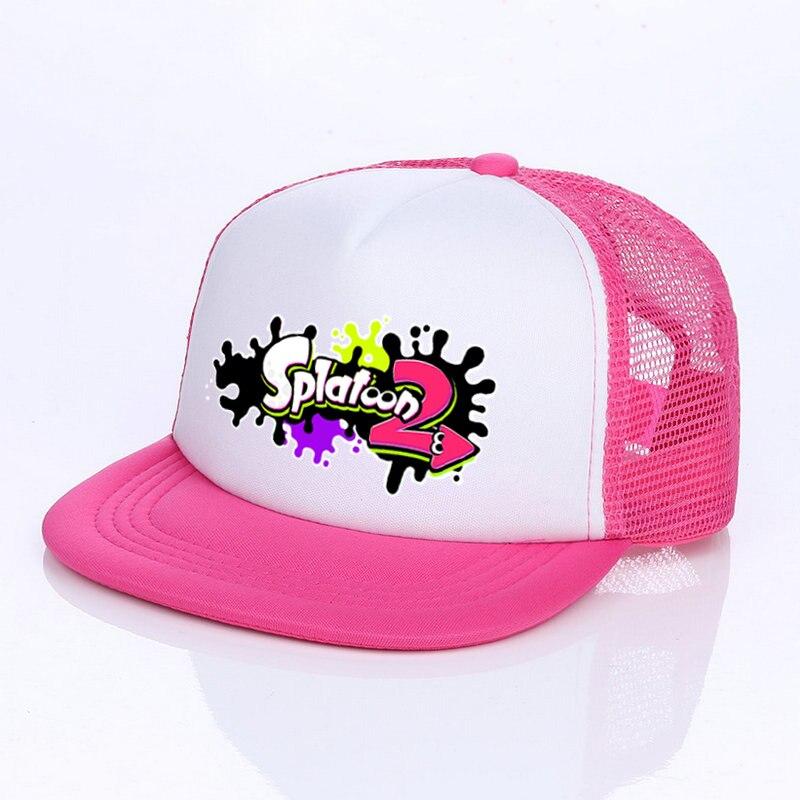 eb47e874e20 Japanese Game Cosplay Splatoon 2 Cap 6 Colors King Flip Trucker Hat Inkling  Girl Boy Cool Enperry Mesh Cap Red Blue Purple YF005-in Hip Hop Caps from  ...