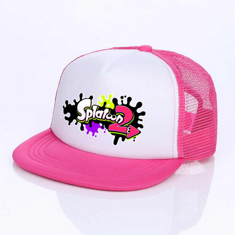 2a63711269a ... Japanese Game Cosplay Splatoon 2 Cap 6 Colors King Flip Trucker Hat  Inkling Girl Boy Cool