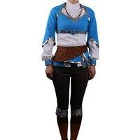Hot Game The Legend of Zelda Twilight Princess Costume Suits Adult Women Dress t shirt Pants Halloween Party Prop