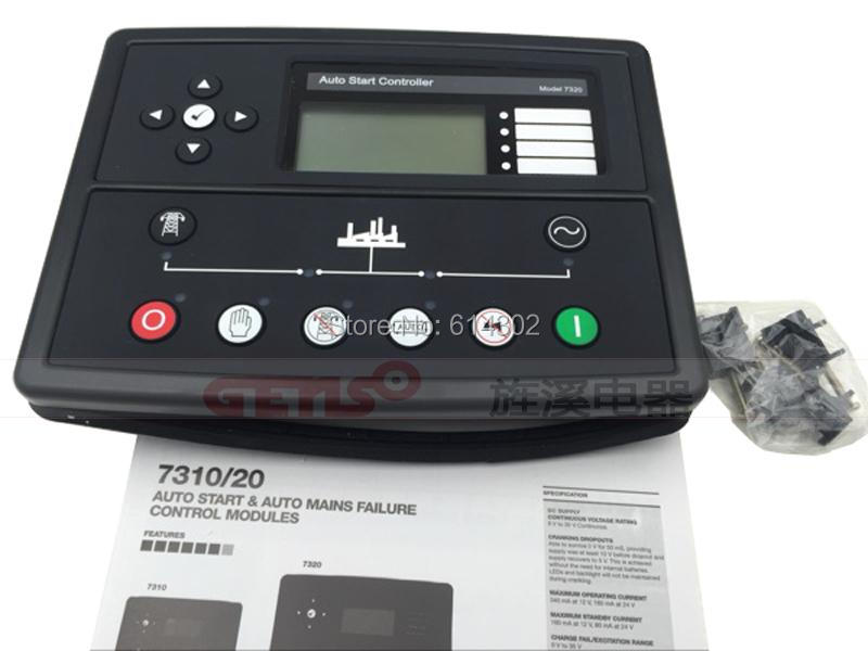 DSE7320 auto start automatic deep sea generator controller Auto Mains(Utility) Failure Control Module fast shipping 6 pins 5kw ats three phase 220v 380v gasoline generator controller automatic starting auto start stop function