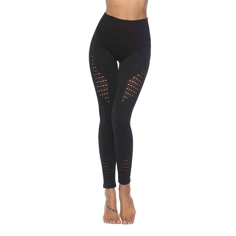 33ad06bc8a Women's Lift Sport Leggings double Hollow Out Fitness Gym Leggings Seamless  Slim Compression Squat Tights High