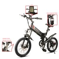 20 дюймов складной электровелосипед 48 V литиевая battery250W 350 W Алюминиевый 6 спиц колеса Электрический горный велосипед внедорожники