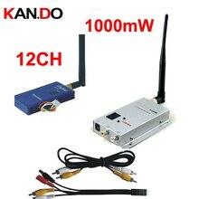 1 w 12ch CCTV wrieless receptor 2.3G 2.4G 2.5G para zangão AV transceptor Sem Fio 2.4G Vídeo FPV Transmissor Receptor de áudio