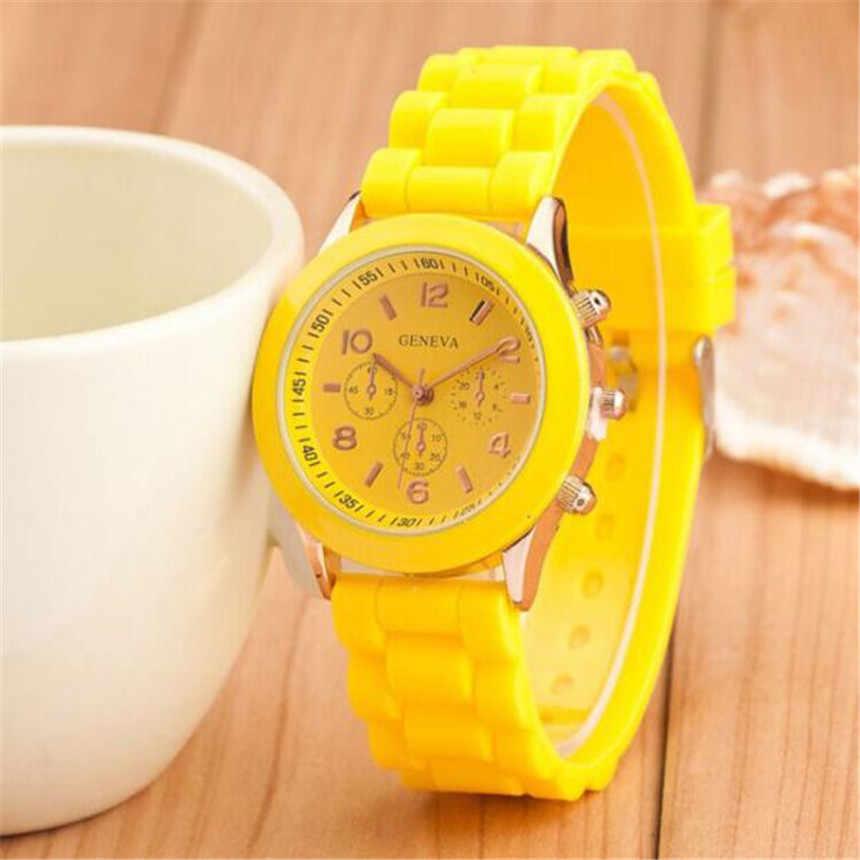 Reloj de silicona y goma para mujer, Gel de gelatina de cuarzo, reloj de pulsera deportivo analógico de lujo, regalo de San Valentín, relojes de pulsera Relogio Ladies Saat # E