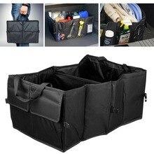 1PC Foldable Car Auto Back Rear Trunk Seat Big Storage Bag Pocket Organizer