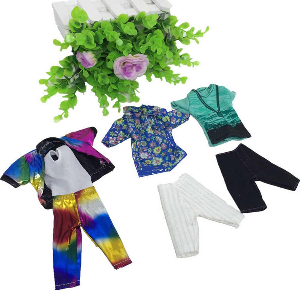 5 комплектов, модная повседневная кукла с одеждой, игрушечная одежда, куртка, штаны, одежда, аксессуары для мальчиков, Кен для кукол Барби, подарок для детей на день рождения