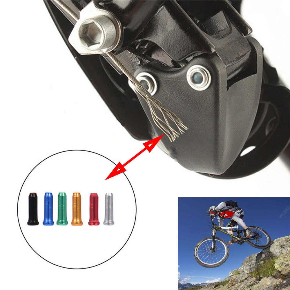 20/50 pçs/lote Liga De Alumínio Da Bicicleta Da Bicicleta Freio Shifter Cabo Interno Dicas Tampa da Extremidade Do Fio Frisos Acessórios Da Bicicleta Para MTB Bicicleta
