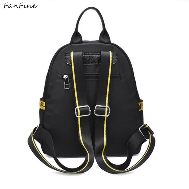 FanFine High Quality pu leather Womens Backpacks Travel Bags Female Black Dailypack School Ladies Preppy Girl Backpacks