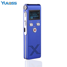 Yulass USB Digital Voice Recorder Professional 4GB Blue Portable Audio Recording Device With MP3 Player REC