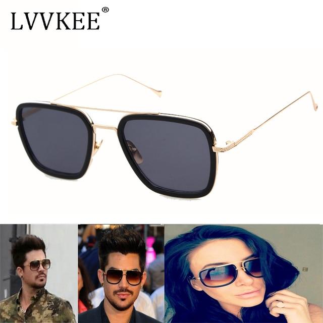 55e2e3f6da1d4 2017 Quadrado Clássico Estrela Óculos De Sol das mulheres homens de Luxo Da  Marca Designer