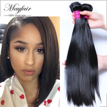 8a Brazilian Virgin Hair Straight  Mink Brazilian Hair Weave 4 Bundles  Mayfair Hair Products Raw Brazilian Virgin Hair bundles