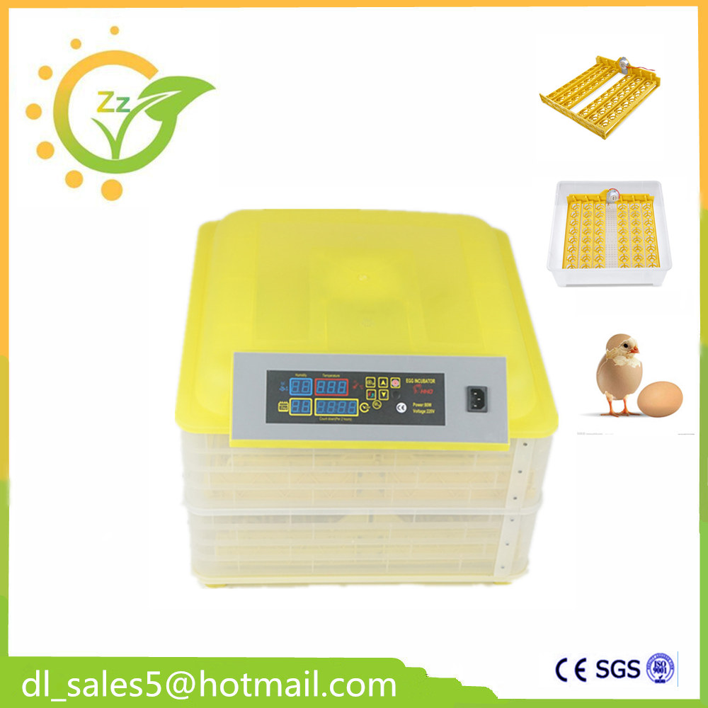 ФОТО  Hot selling china cheap egg incubator machine automatic brooder poultry 96 eggs