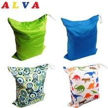 U PICK ALVABABY тканевая сумка для подгузников, водонепроницаемая сумка для подгузников, многоразовая сумка для детских подгузников, два кармана, влажная сухая сумка
