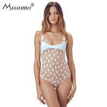 Missomo Women Plus Size Sexy Costumes Lace Femme Transparent Bodysuit Body One Piece Overall Stripper Playsuit Top Mesh Jumpsuit
