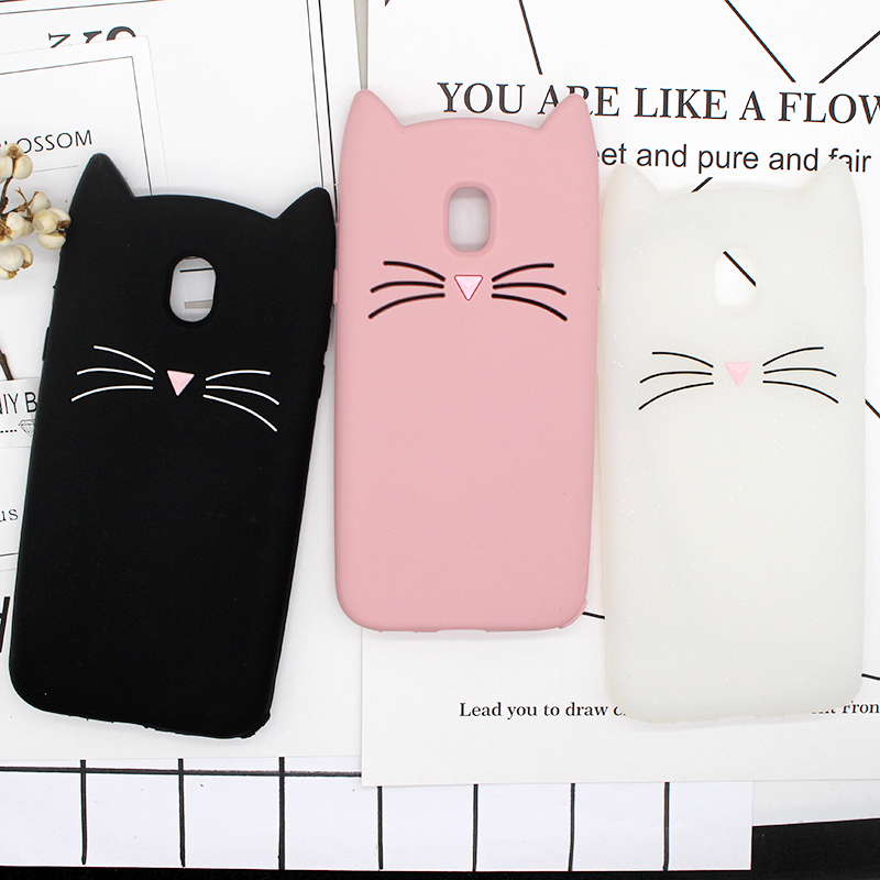 new arrival 09019 a2c43 US $2.9 25% OFF|3D Cute Case For Samsung Galaxy J5 2017 Cover J5 Pro  Silicon Beard Cat Cases For Samsung J7 2017 Cover Cartoon Gel Coque  Shell-in ...