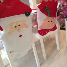 Mr & Mrs santa chair cover Christmas Home Decorations Kitchen Chair Covers Christmas gifts Christmas Decoration