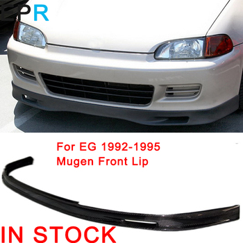 For EG 1992-1995 Carbon Fiber SP Lip For Honda Glossy Fiber Bumper Splitter Under Spoiler  Trim Accessories