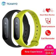 Teamyo Плюс Y2 Умный Браслет Смарт Кровяное давление Кислорода в Крови Heart rate monitor Смарт браслет Для iOS Android