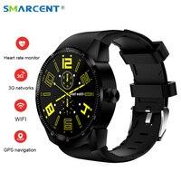 SMARCENT K98H Android 4 4 Smart Watch IPS Screen 3G SIM WiFi Smartwatch MT6572A Dual Core