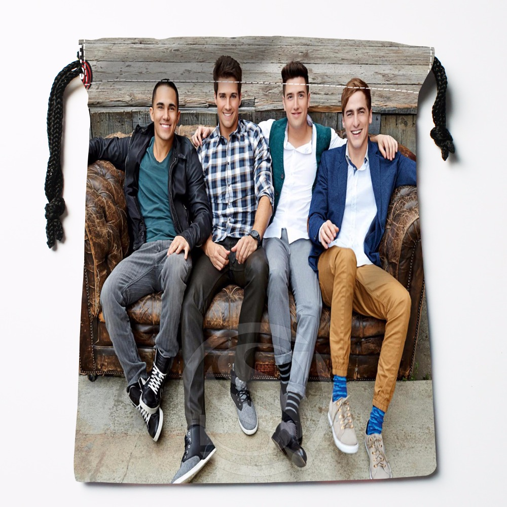 Fl-Q113 New Big Time Rush Custom Printed  Receive Bag  Bag Compression Type Drawstring Bags Size 18X22cm 711-#Fl113