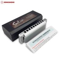 KONGSHENG Solist 10 Holes Diatonic Harmonica KongSheng Solist Folk Blues Harp Mouth Organ Key C Professional Musical Instruments