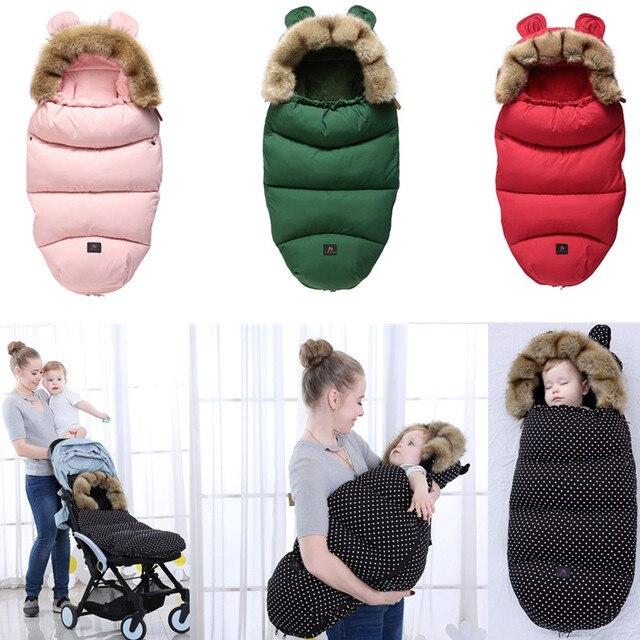 Xe đẩy cho bé bé Bao thư Ấm Túi ngủ mùa đông trong xe đẩy cho trẻ sơ sinh