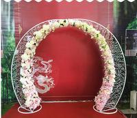 New style wedding props iron arched door sen outdoor wedding stage layout moon gate happiness door.