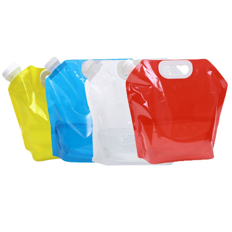 5L Outdoor Foldable Folding Collapsible Drinking Car Water Bag Carrier Container Outdoor Camping Hiking Picnic Emergency Kits